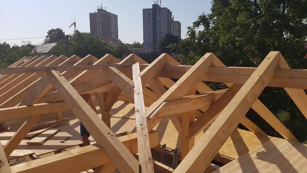 Realizácia novostavba Holíč – Krov Bungalov + drevený strop