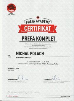 Certifikát - Prefa Komplet